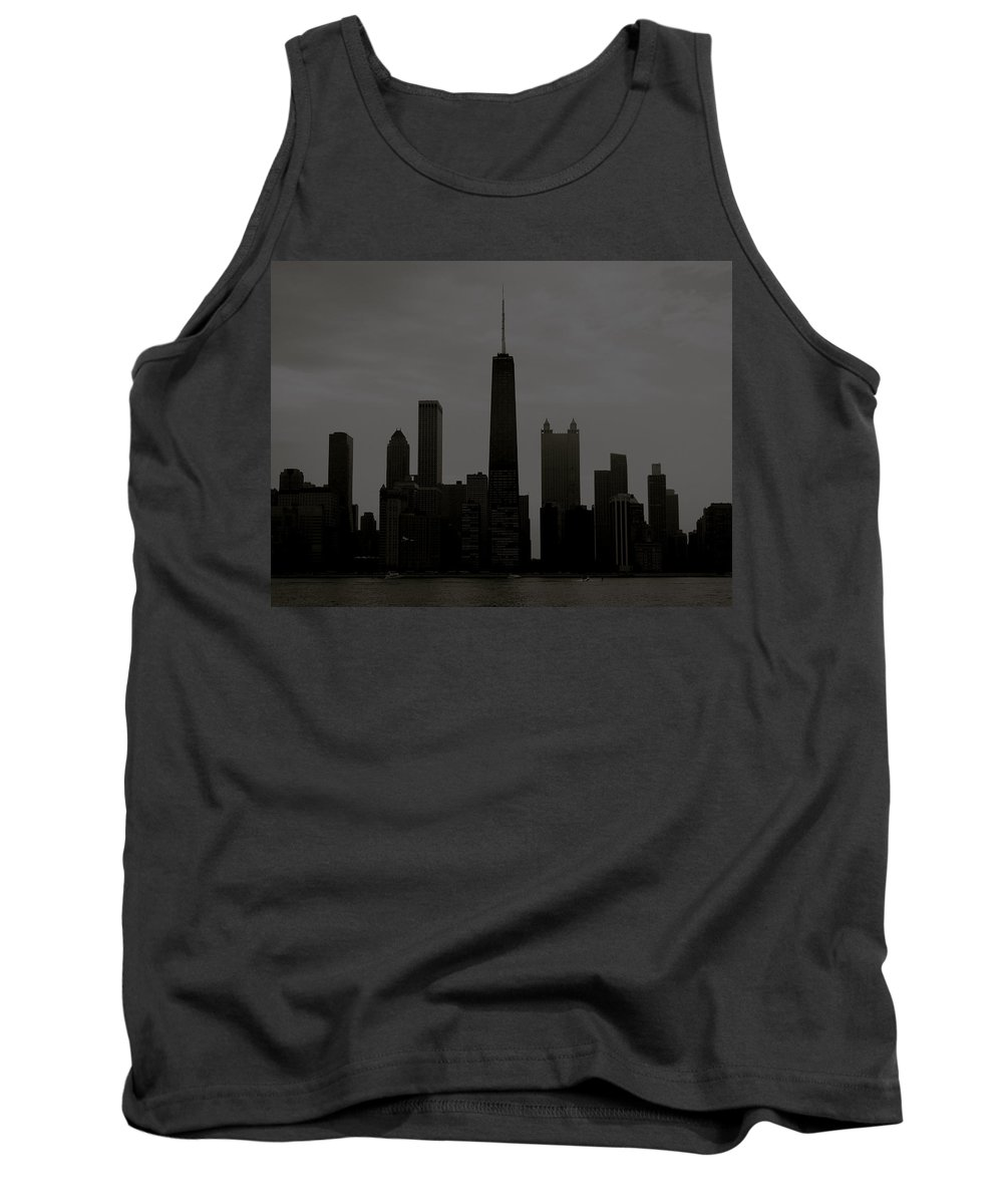 Chicago Tank Top featuring the photograph Chicago Impressions 6 by Marwan George Khoury