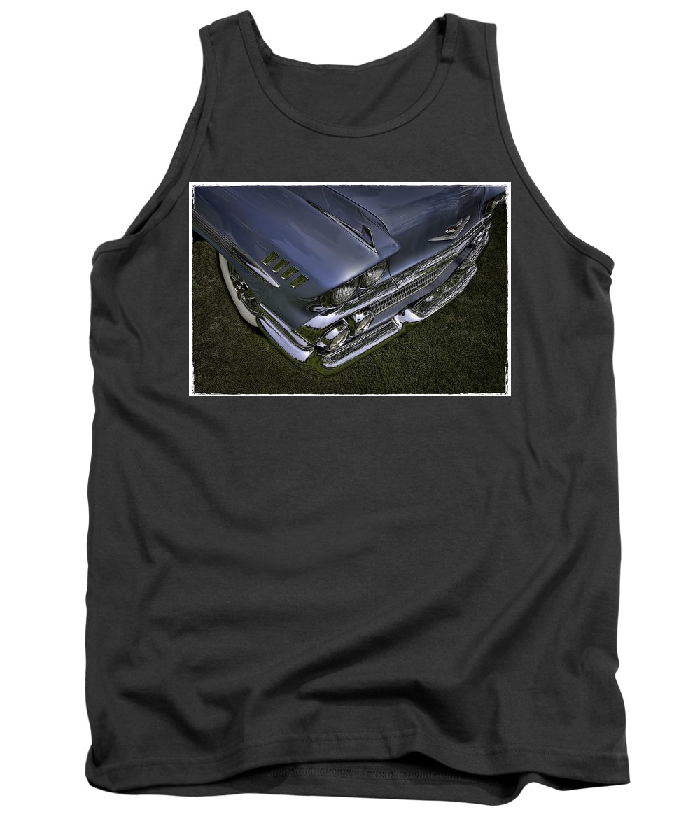 Scrap Tank Top featuring the photograph Chrome by Jerry Golab