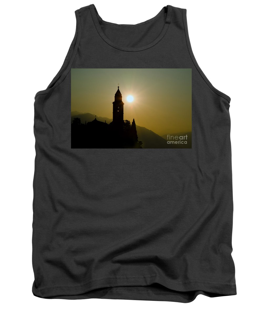 Tower Tank Top featuring the photograph Church Tower by Mats Silvan