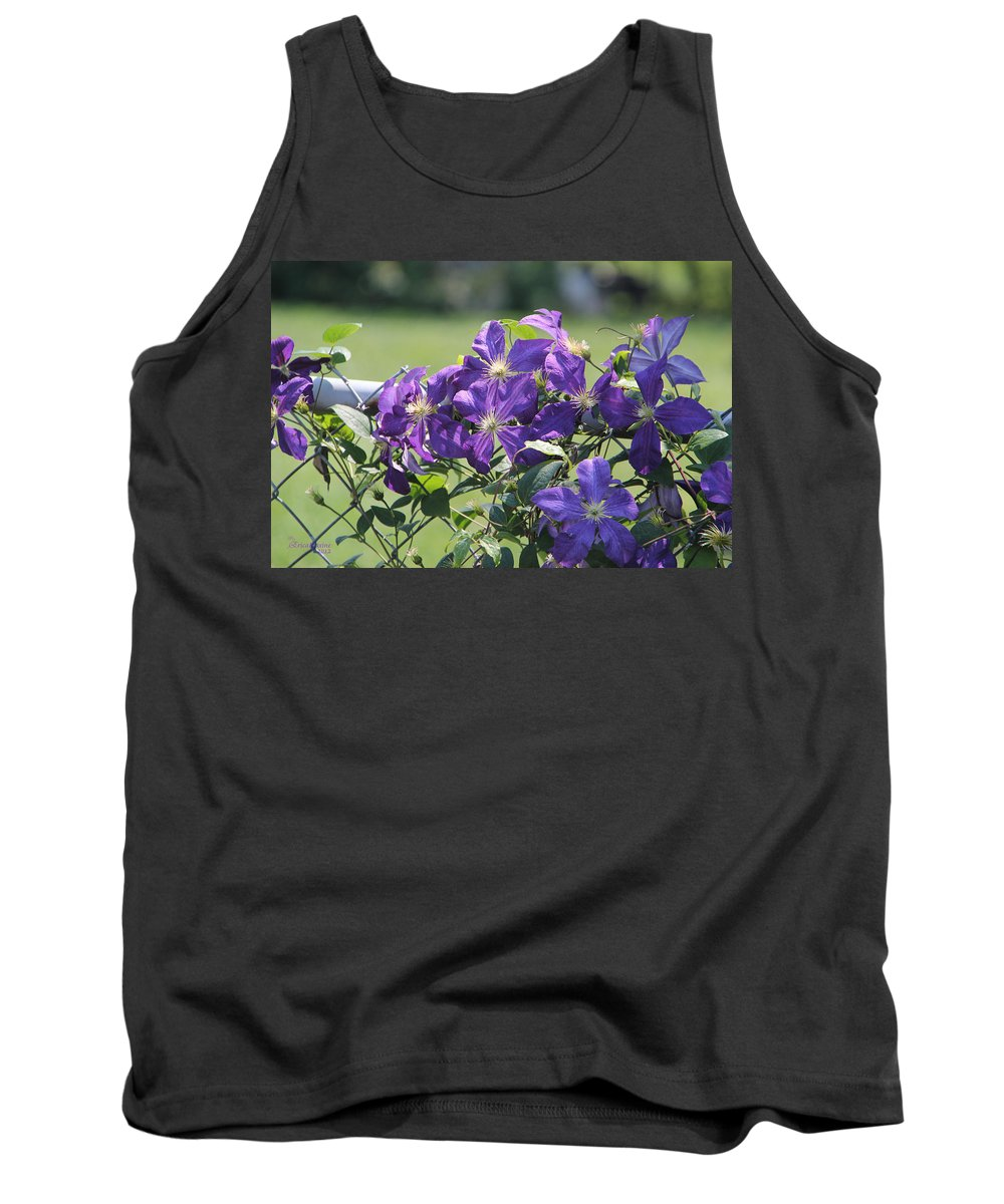 Tn Tank Top featuring the photograph Clematis by Ericamaxine Price