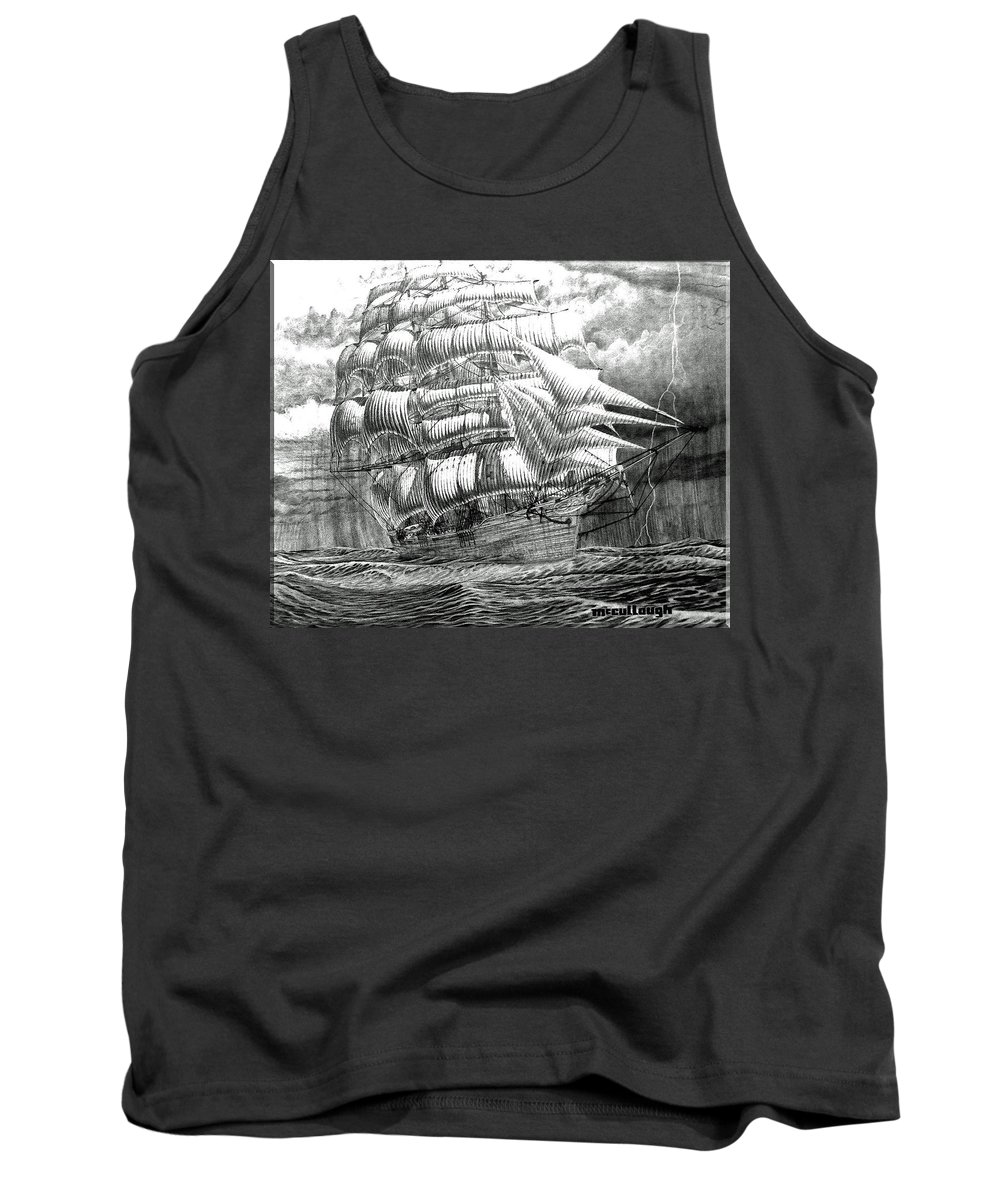 Clipper Tank Top featuring the photograph Clipper In The Storm Filtered by Duane McCullough