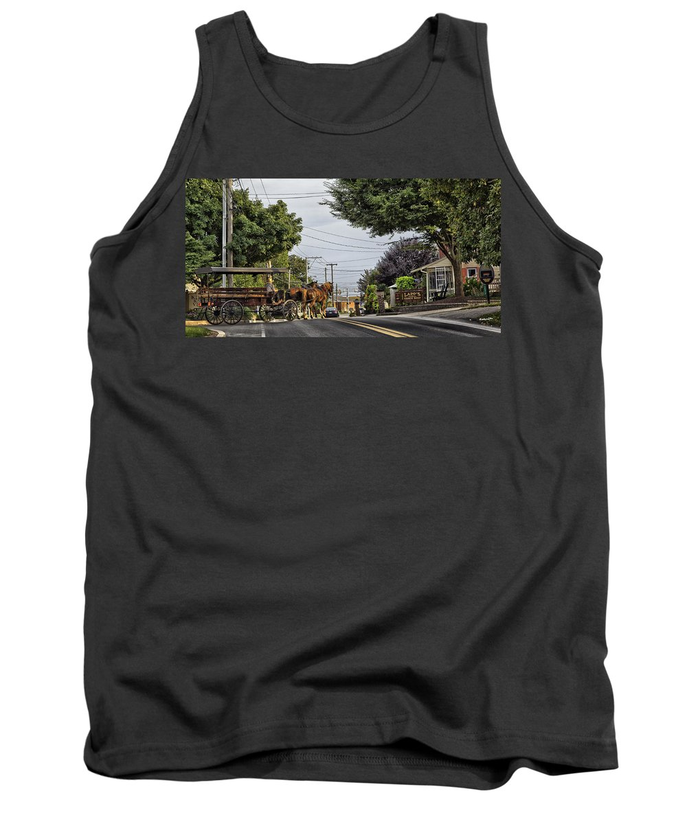 Amish Tank Top featuring the photograph Closed On Sundays 2 - Amish Country by Madeline Ellis