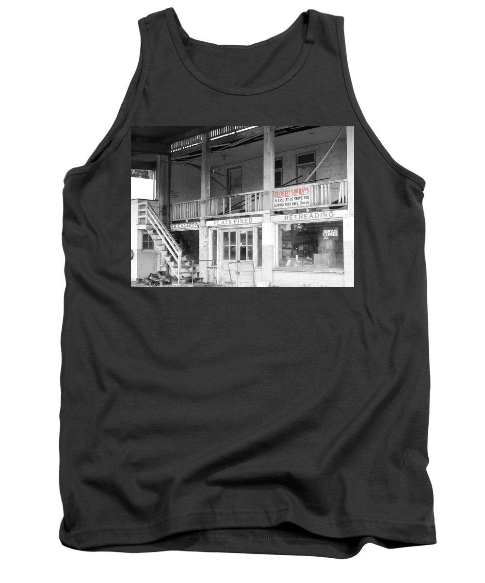 Color Splash Tank Top featuring the photograph Closed Sundays by Michele Nelson