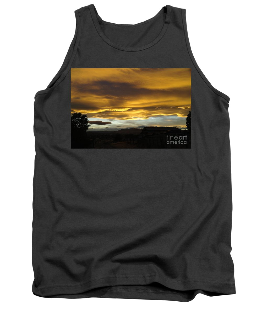 Cluds Tank Top featuring the photograph Clouds Illuminated At Sunset by Jeff Swan