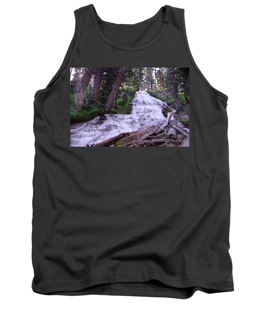 Water Tank Top featuring the photograph Coat Hanger Falls by Jeff Swan