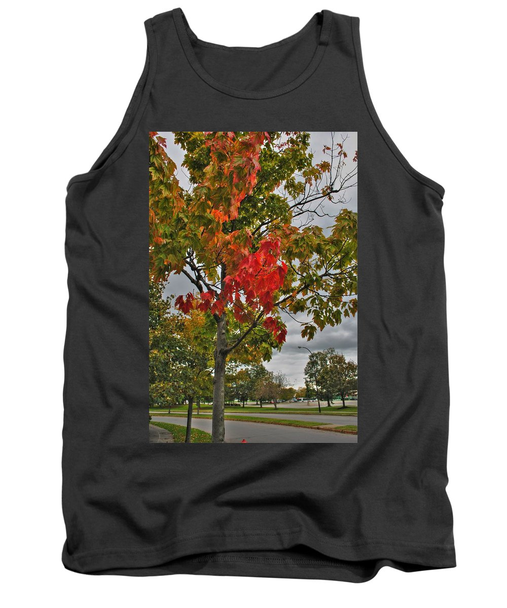 Tank Top featuring the photograph Cold Autumn Breeze by Michael Frank Jr