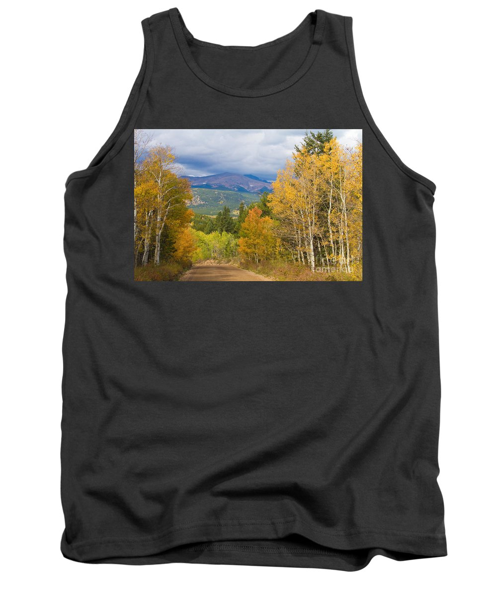 Colorful Tank Top featuring the photograph Colorado Rocky Mountain Autumn Scenic Drive by James BO Insogna