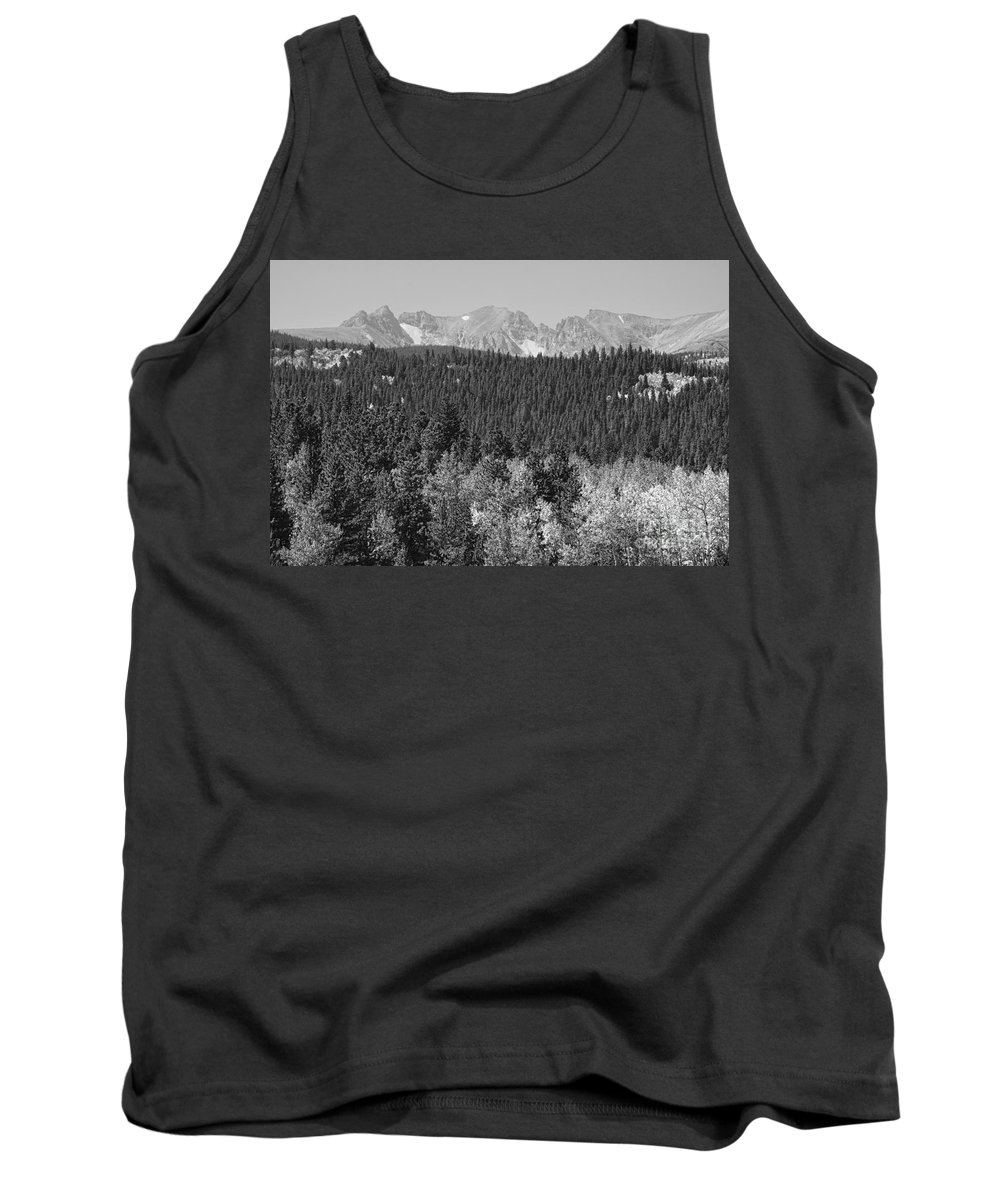 Colorado Tank Top featuring the photograph Colorado Rocky Mountain Continental Divide View Bw by James BO Insogna