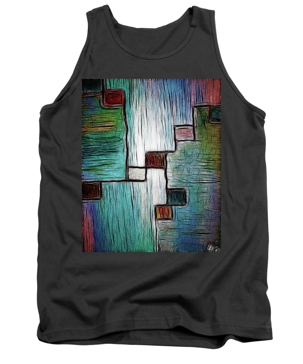 Colors Tank Top featuring the painting Colors In Shape by Lisa Stanley