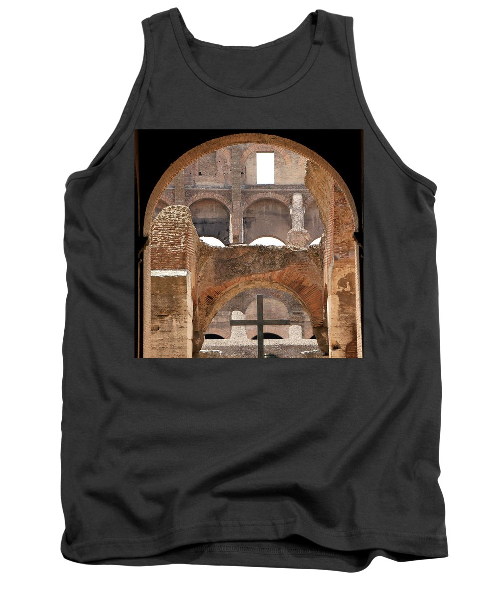 Colosseum Tank Top featuring the photograph Colosseum 2 by Andrew Fare