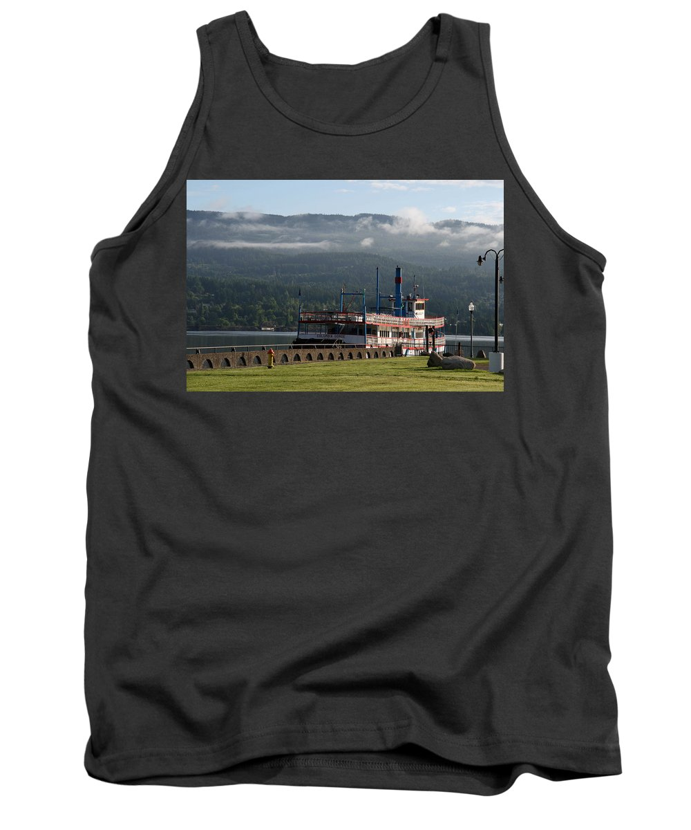 Oregon Tank Top featuring the photograph Columbia River Gorge Sternwheeler by Elizabeth Rose