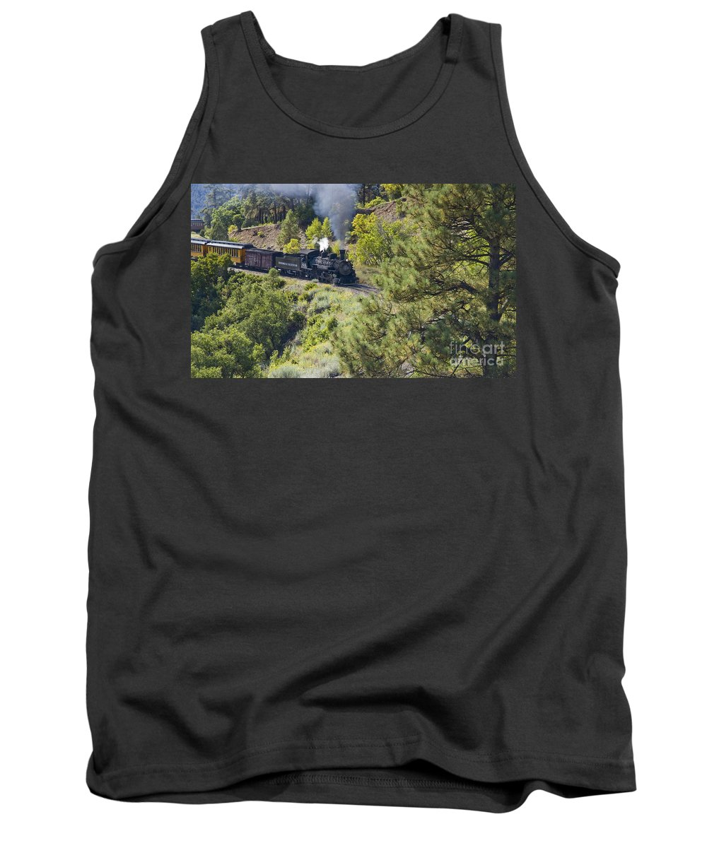 Drgw Tank Top featuring the photograph Coming 'round The Bend by Tim Mulina