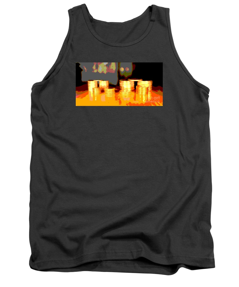 Coin Tank Top featuring the photograph Coming Up Gold by Jim Carrell
