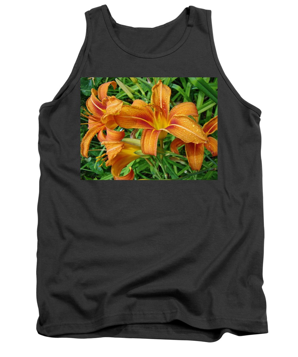 Daylily Tank Top featuring the photograph Consider The Lilies Of The Field - Hemerocallis Fulva by Mother Nature