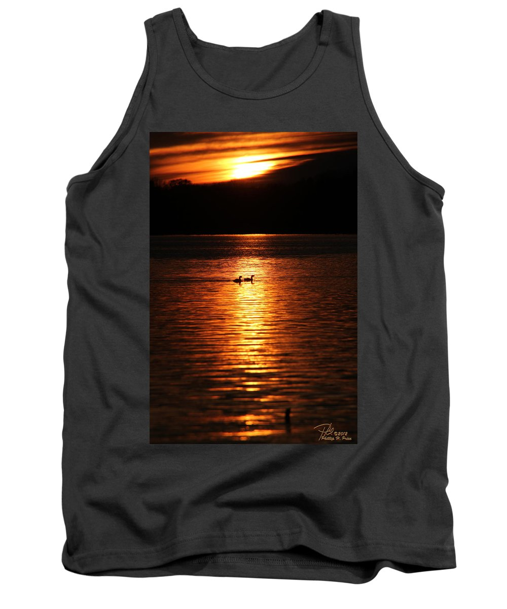 Coots Tank Top featuring the photograph Coots In The Sunset by Ericamaxine Price