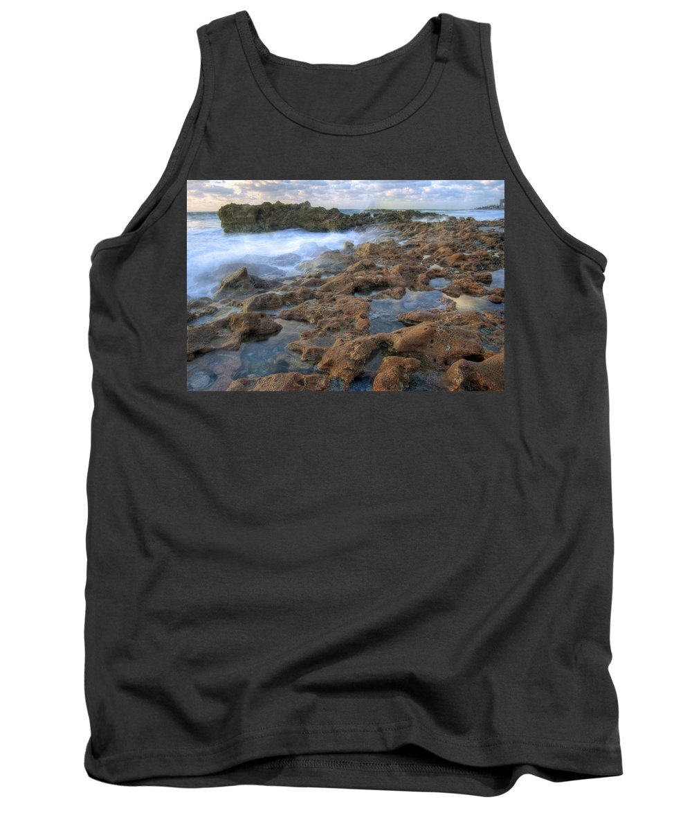 Sunrise Tank Top featuring the photograph Coral Cove by Darleen Stry