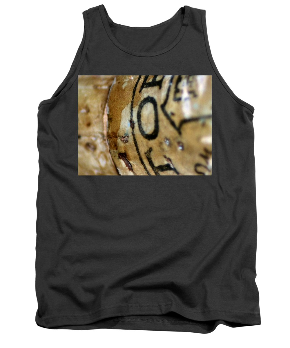 Macro Tank Top featuring the photograph Cork by Michael Merry