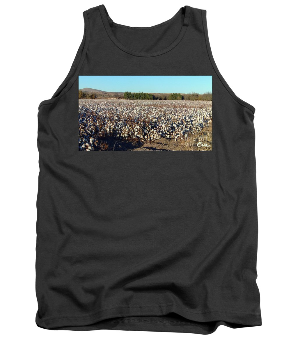Cotton Landscape Protected Tank Top featuring the photograph Cotton Landscape Protected 01 by Feile Case