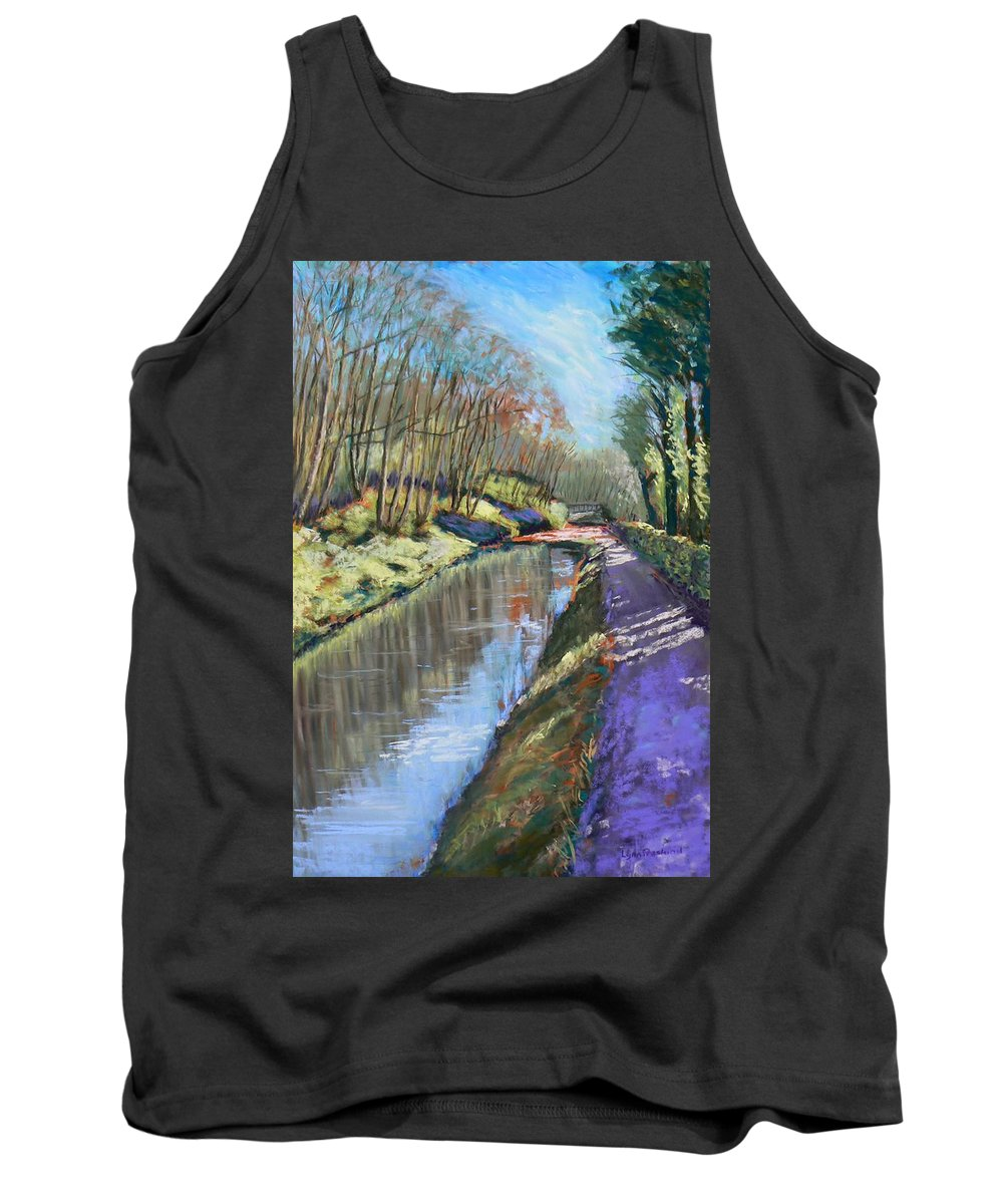 Cromford Tank Top featuring the painting Cromford Canal by Lynn Presland