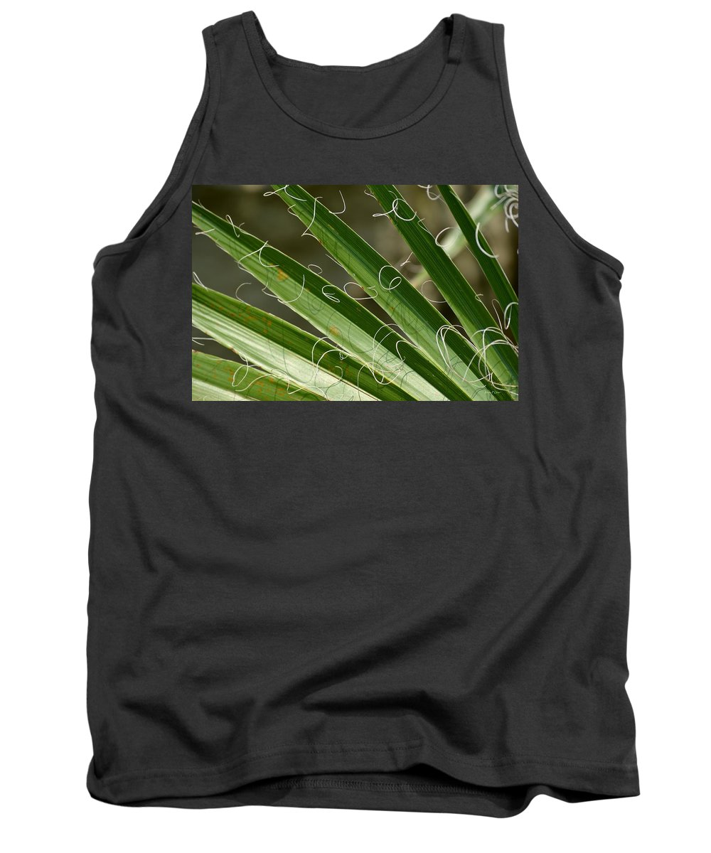 Curling Tank Top featuring the photograph Curling Shadows by Maria Urso