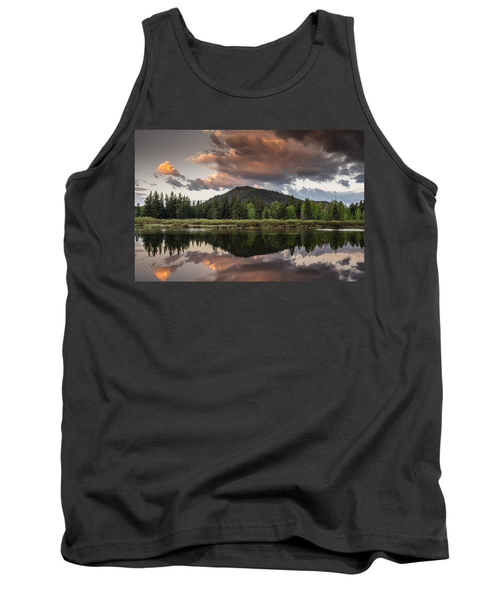Grand Tetons National Park Tank Top featuring the photograph Dawn On The Snake River by Greg Nyquist