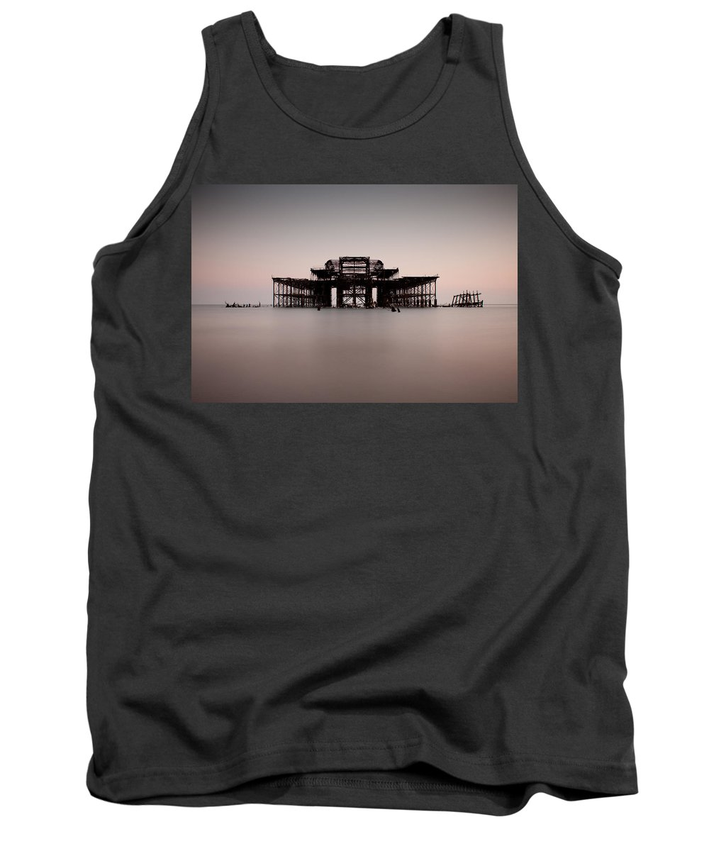 Decay Tank Top featuring the photograph Decaying Pier by Andy Linden