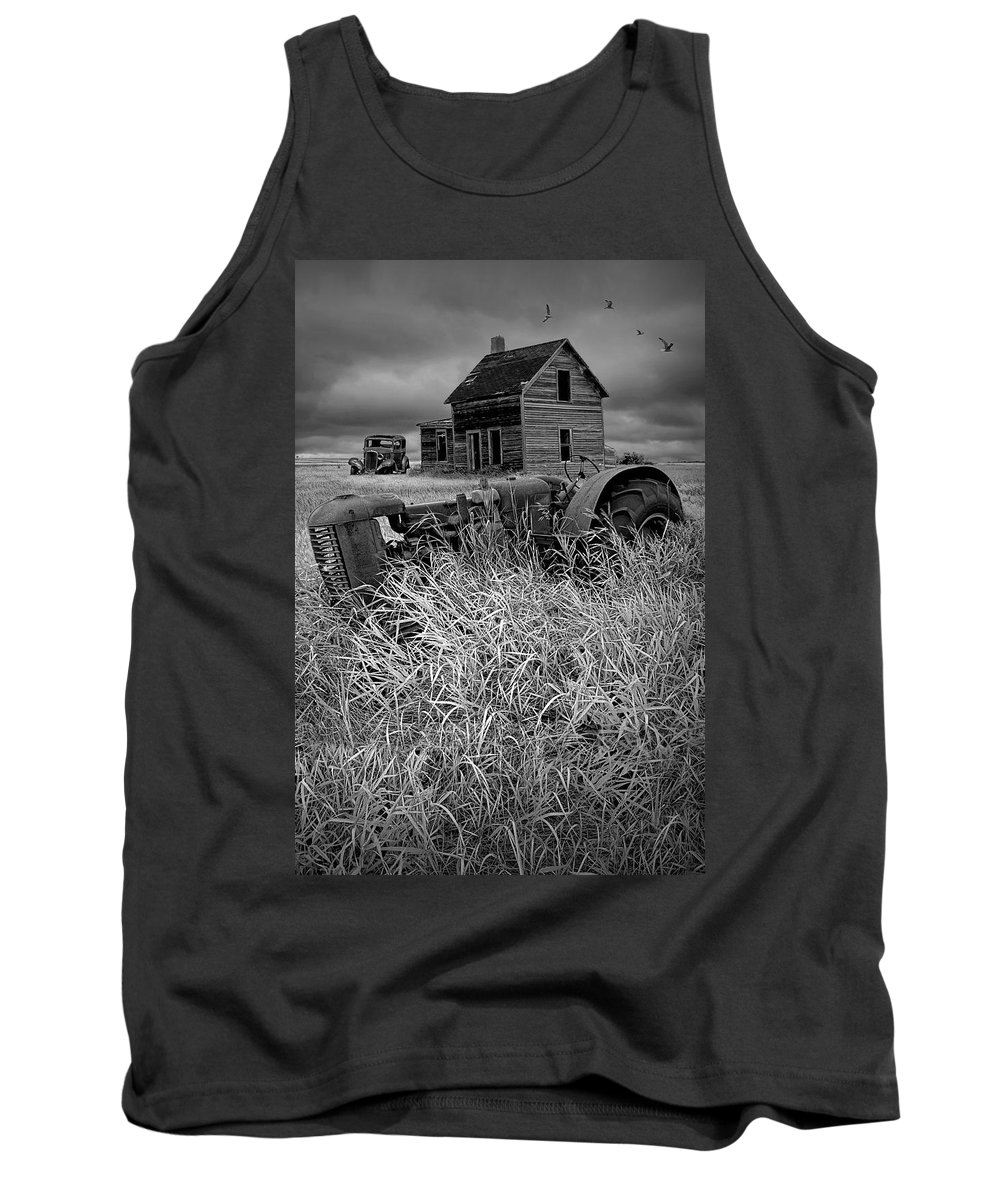 Art Tank Top featuring the photograph Decline Of The Small Farm No.2 by Randall Nyhof