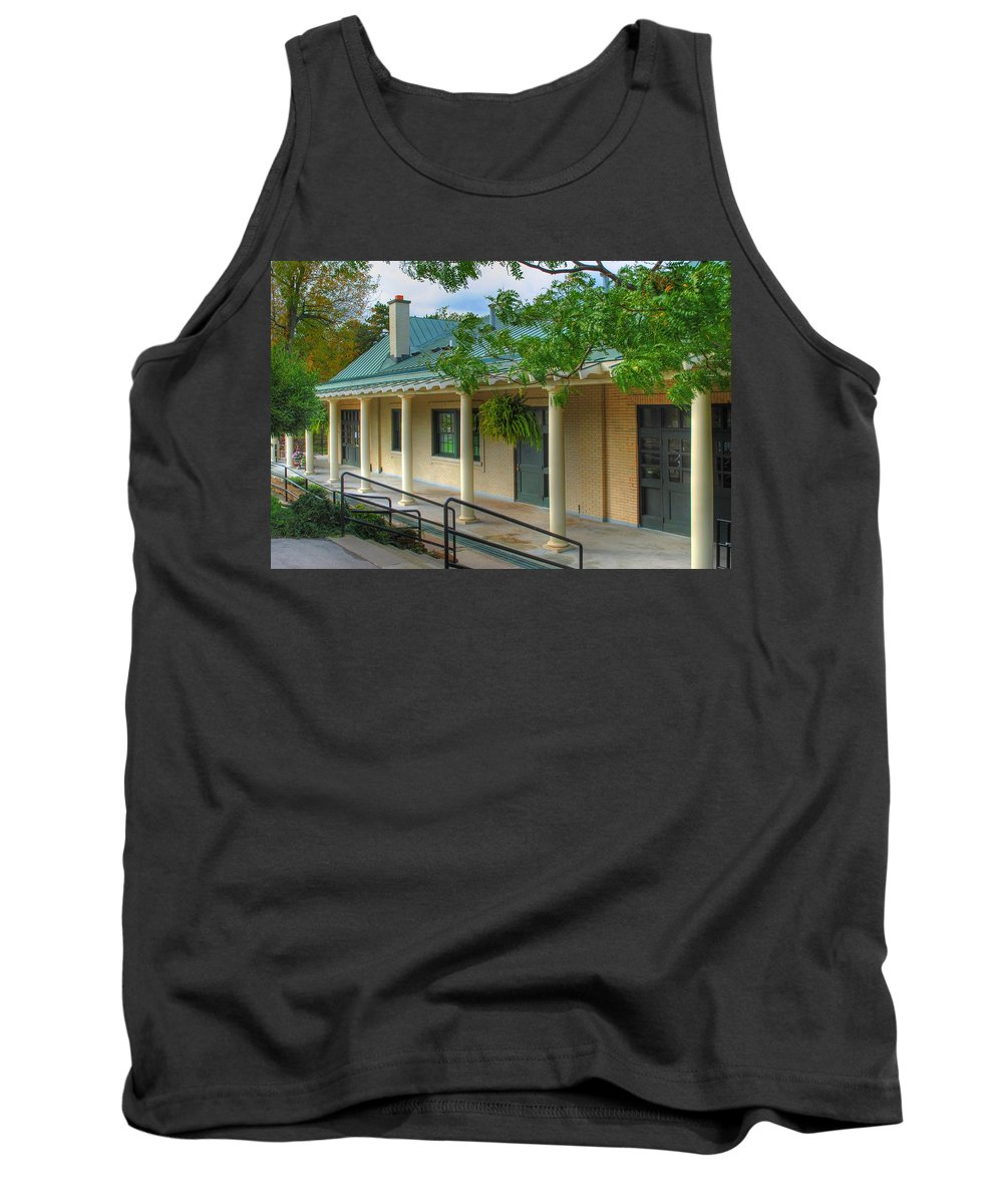 Tank Top featuring the photograph Delaware Park Casino by Michael Frank Jr