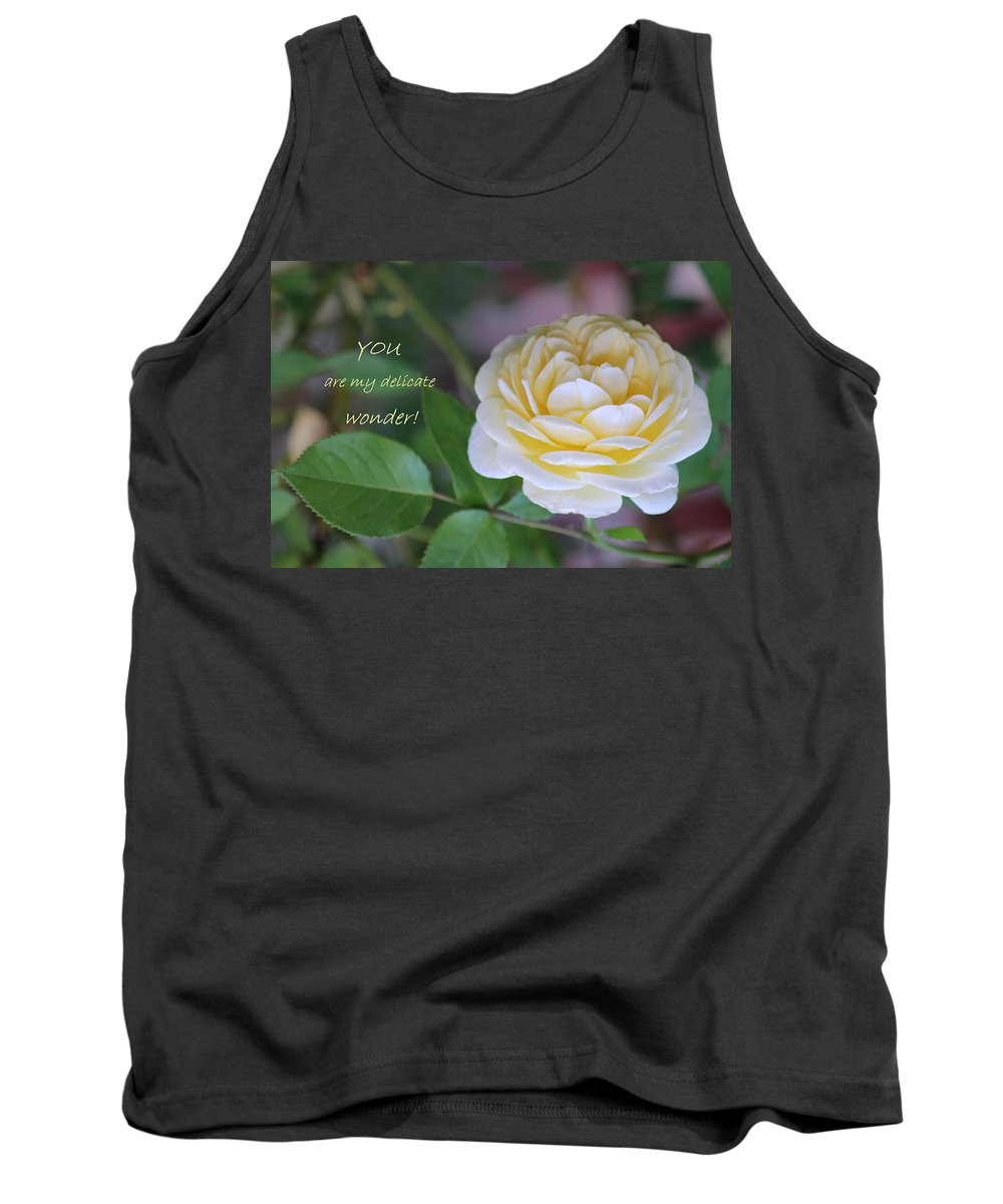 Card Tank Top featuring the photograph Delicate Wonder by Deborah Crew-Johnson