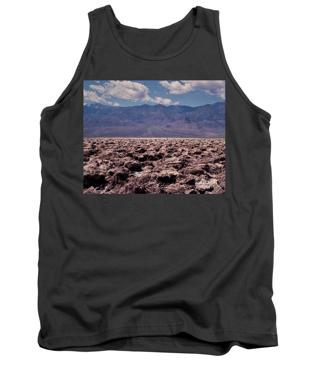 California Tank Top featuring the photograph Devil's Golf Course At Death Valley by Stephen Whalen