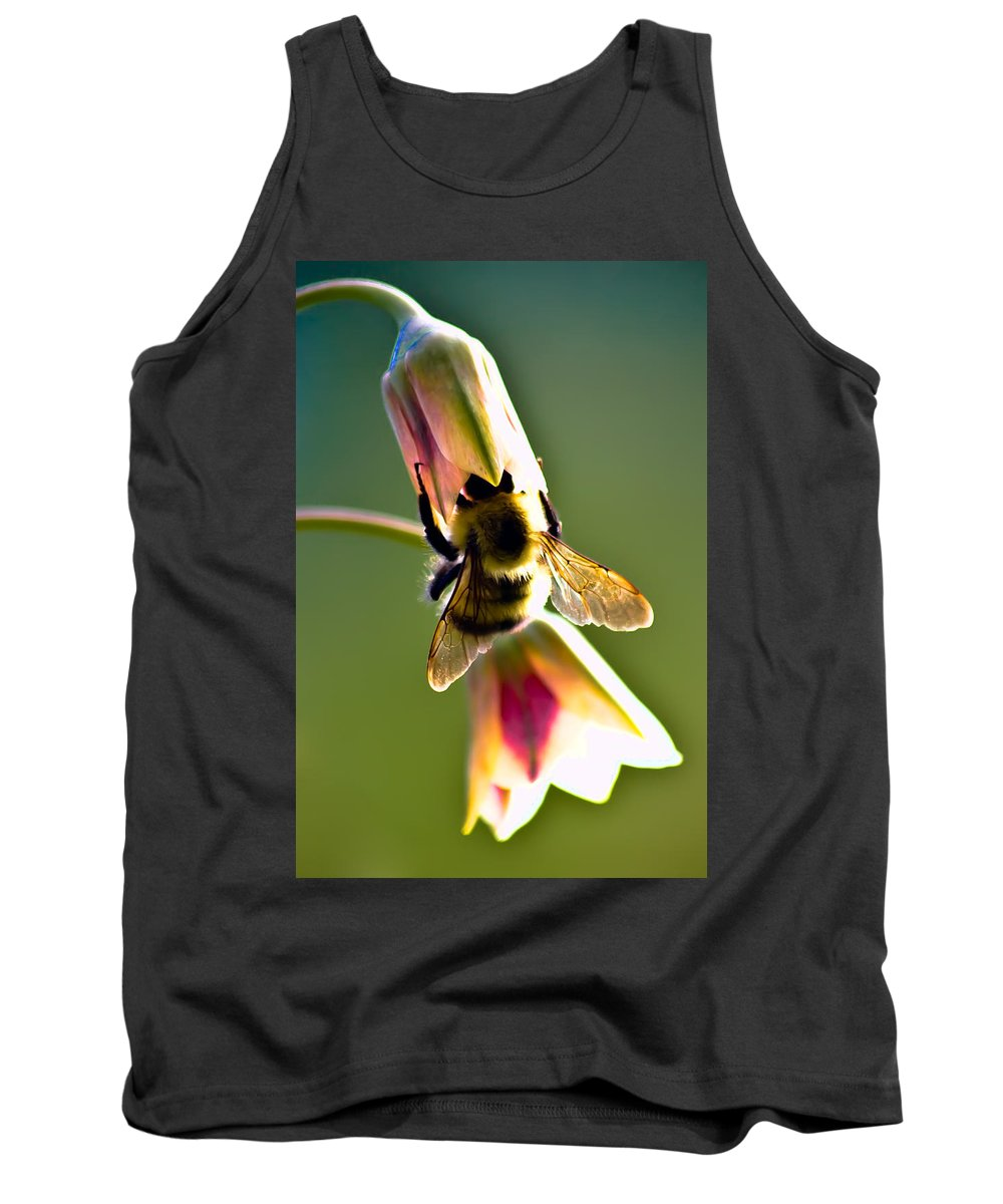 Flower Tank Top featuring the photograph Digging For Liquid Gold by Sarah Wiggins