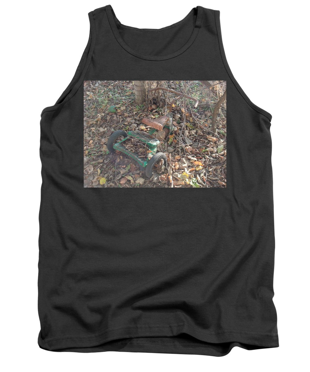 Trike Tank Top featuring the photograph Discarded by Bonfire Photography