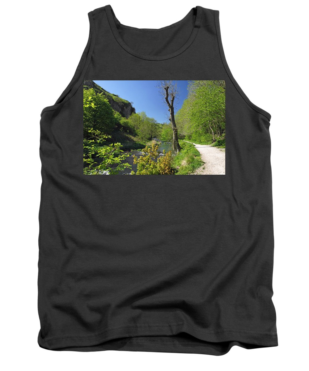 Britain Tank Top featuring the photograph Dove Valley - Beside The River by Rod Johnson