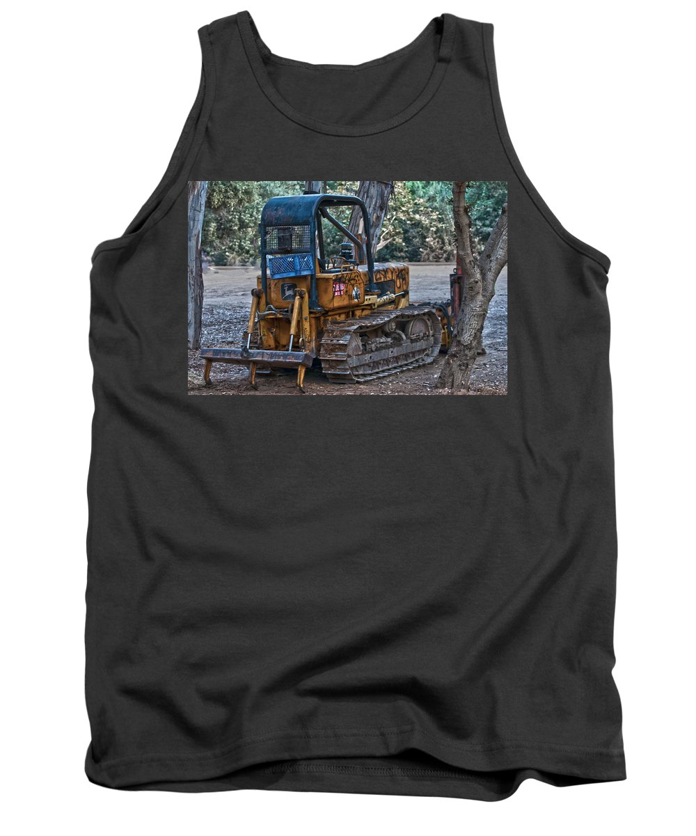 Machine Tank Top featuring the photograph Dozer by Stephanie Haertling