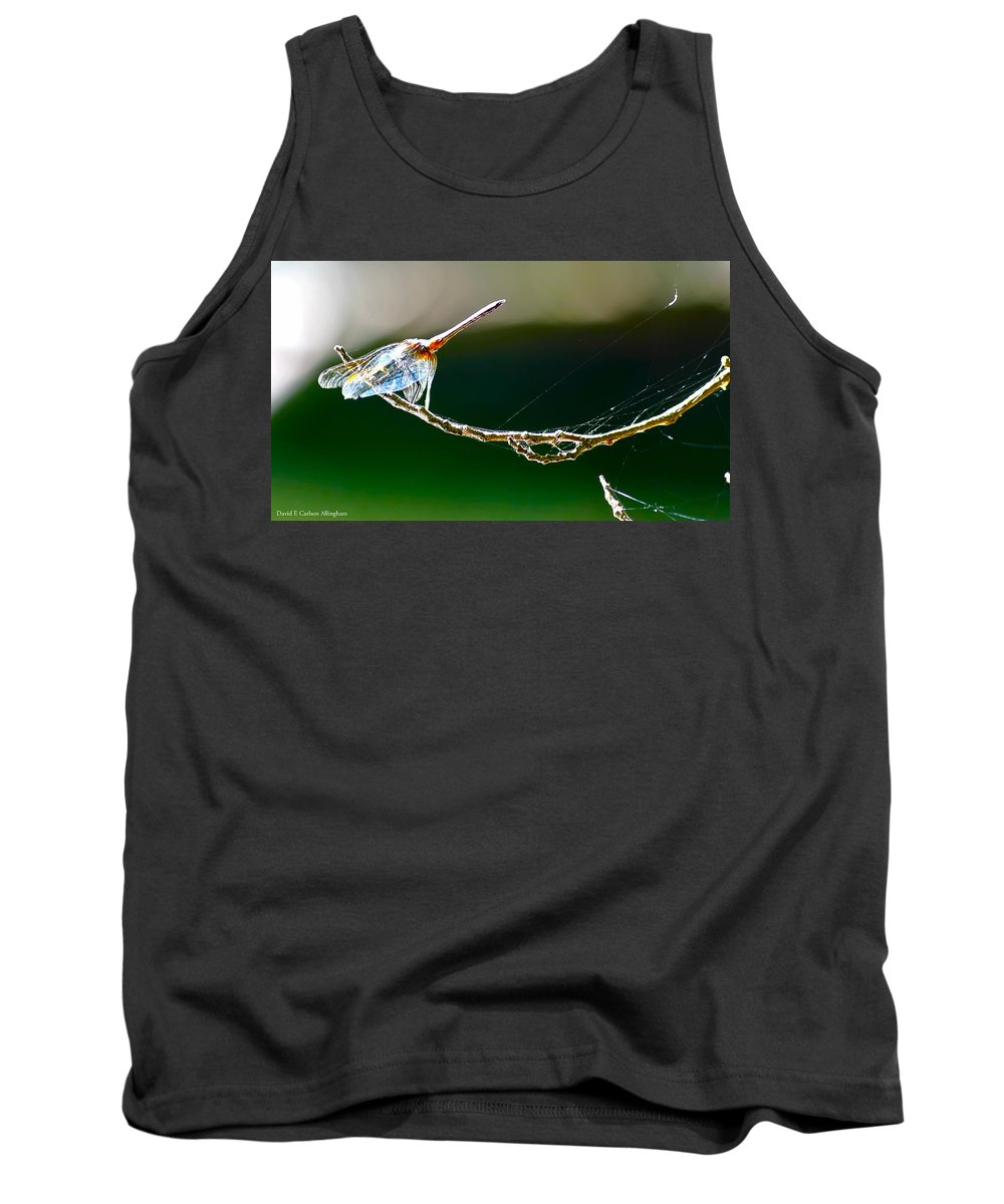 Dragonfly Tank Top featuring the photograph Dragonfly In The Wind by David E C Allingham