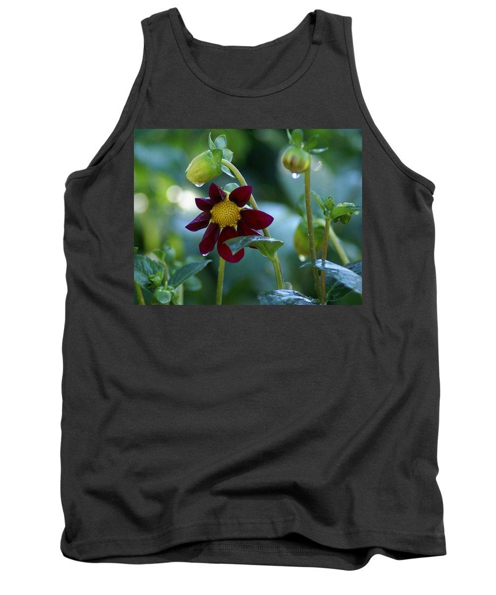 Flower Tank Top featuring the photograph Dripping Garden 1 by Ben Upham III