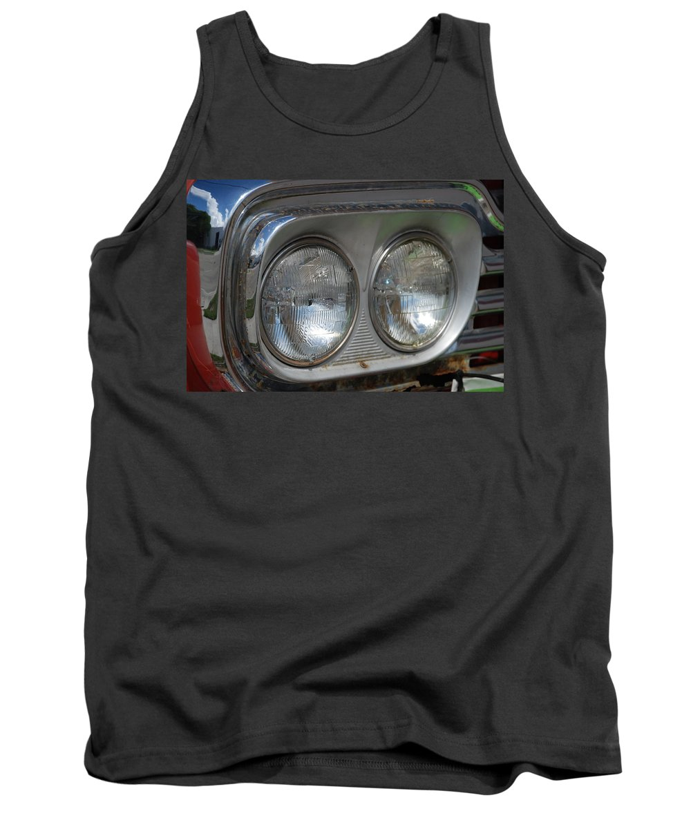 Head Lights Tank Top featuring the photograph Duel Lights by Rob Hans