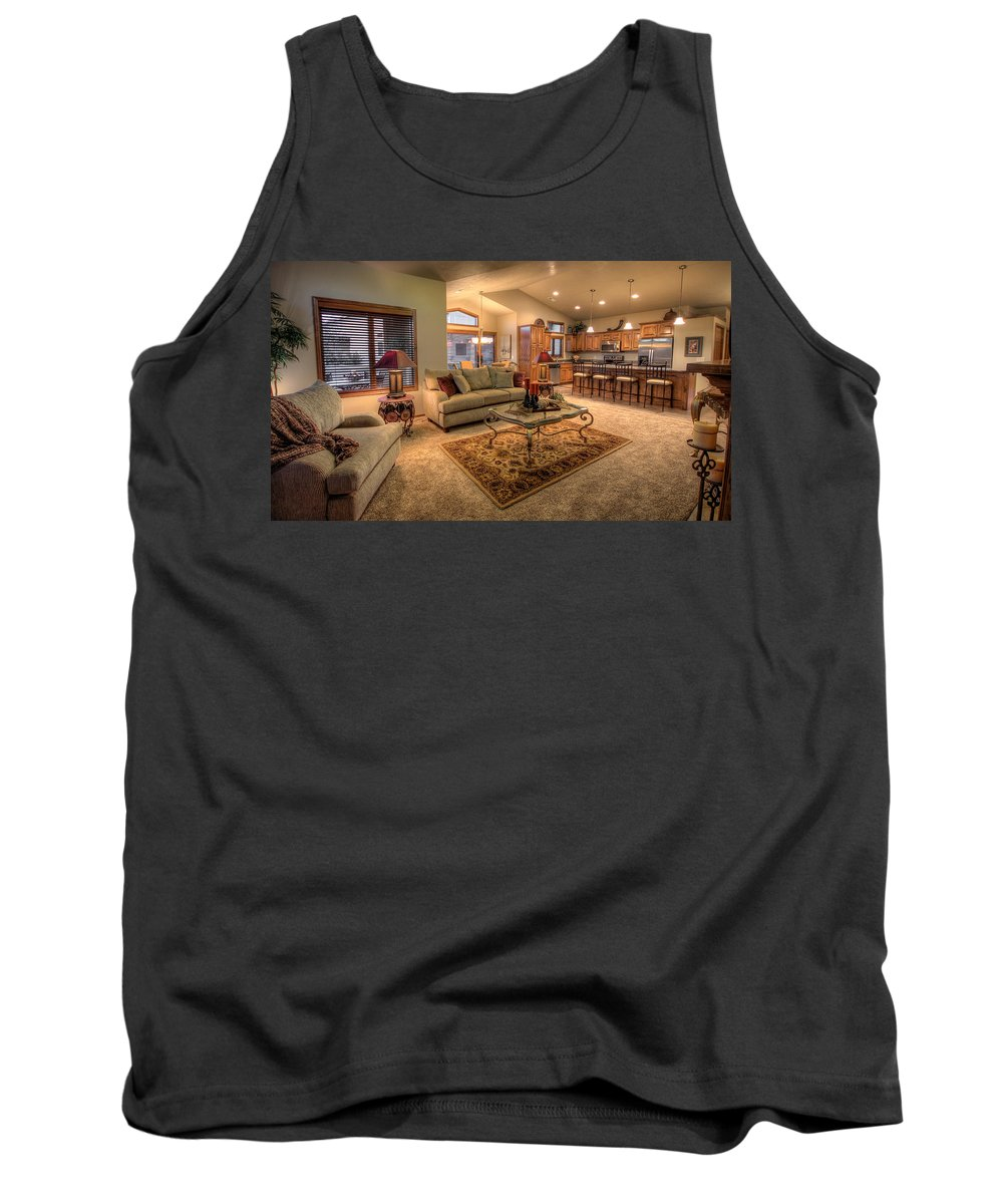 Tank Top featuring the photograph Dvth Living Room by Mike Oistad