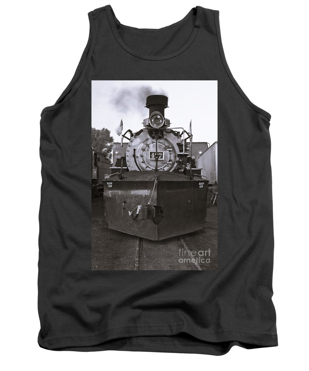 Drgw Tank Top featuring the photograph Early Call - Bw by Tim Mulina