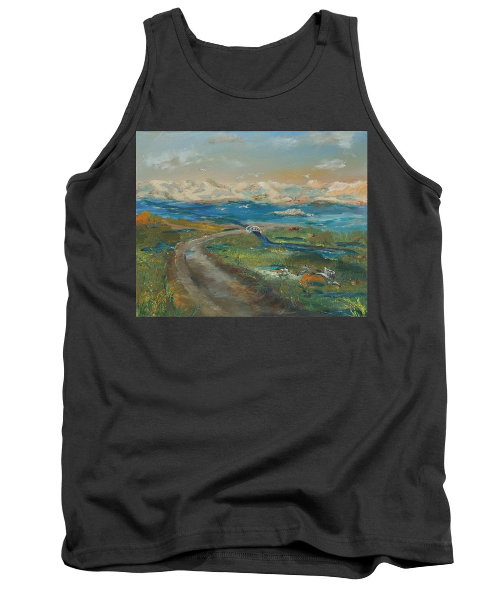 Elkhorn Slough Tank Top featuring the painting Elkhorn Slough by Gail Daley