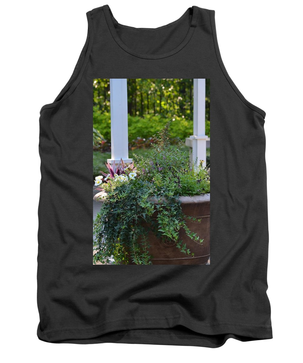 English Tank Top featuring the photograph English Ivy Cascade by Maria Urso