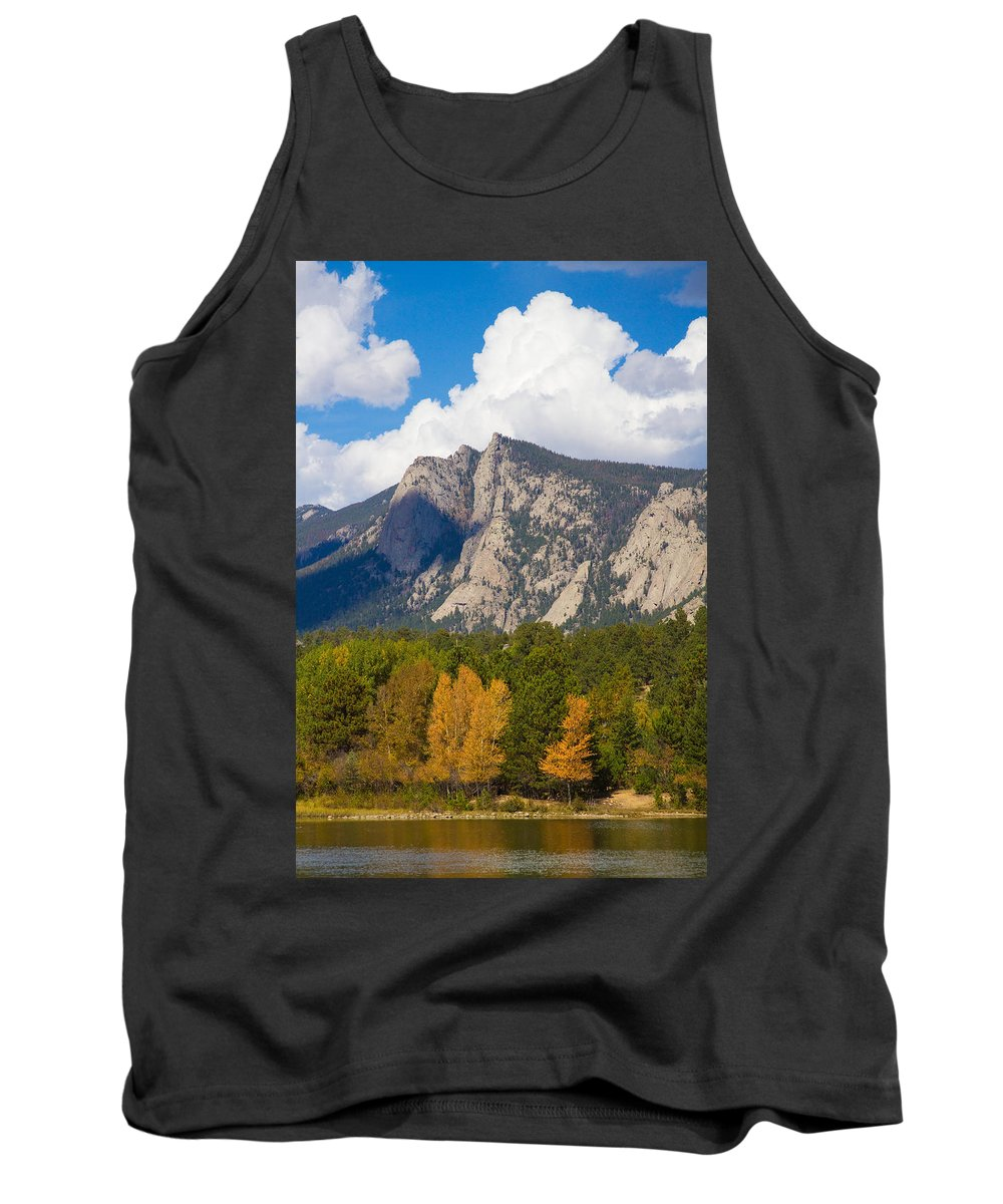 'estes Lake' Tank Top featuring the photograph Estes Lake Autumn View by James BO Insogna
