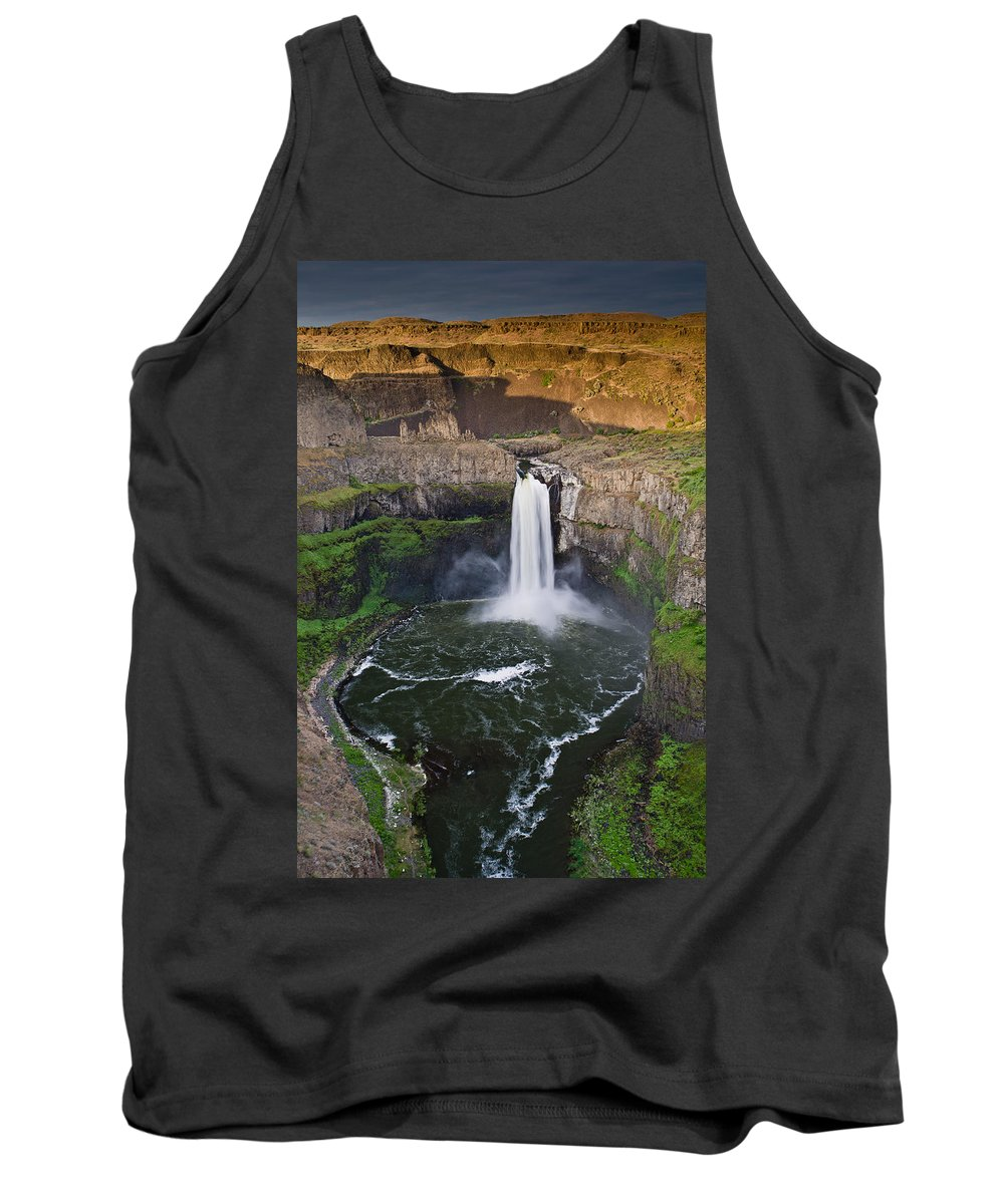 Palouse Falls Tank Top featuring the photograph Evening At Palouse Falls by Greg Nyquist