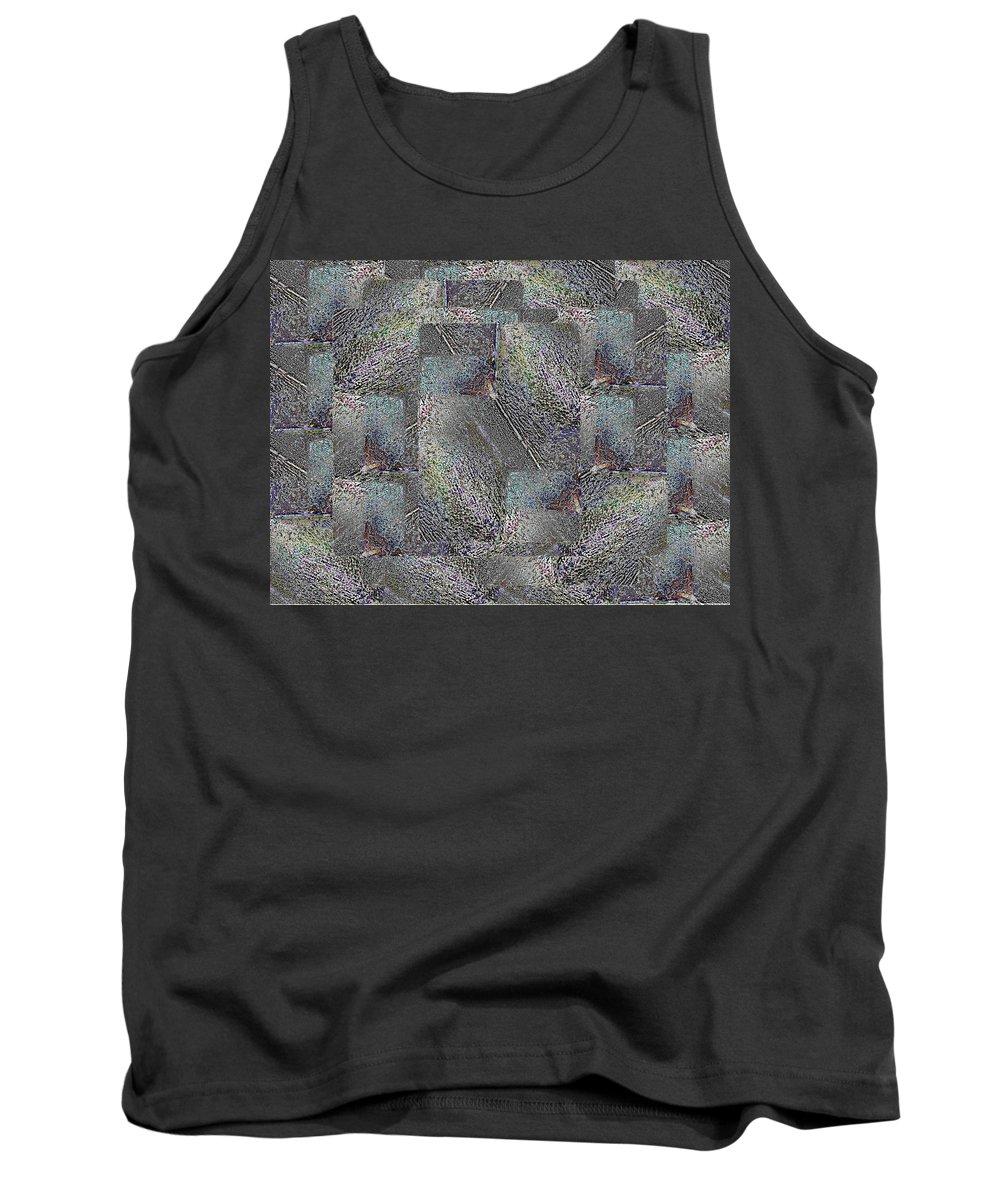 Abstract Tank Top featuring the digital art Facade 17 by Tim Allen