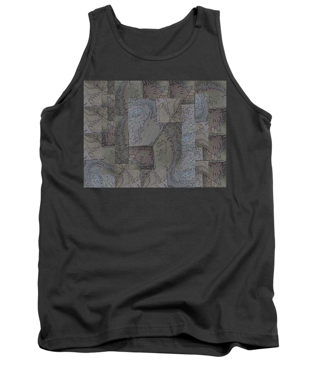 Abstract Tank Top featuring the digital art Facade 3 by Tim Allen