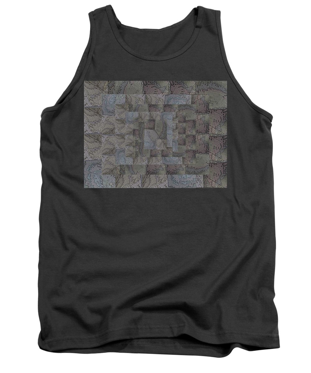 Abstract Tank Top featuring the digital art Facade 6 by Tim Allen