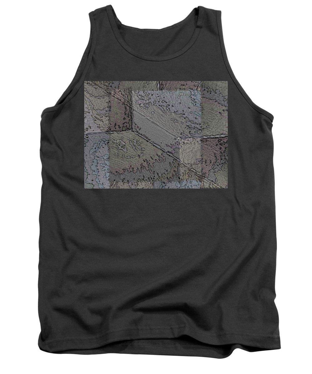 Abstract Tank Top featuring the digital art Facade 7 by Tim Allen