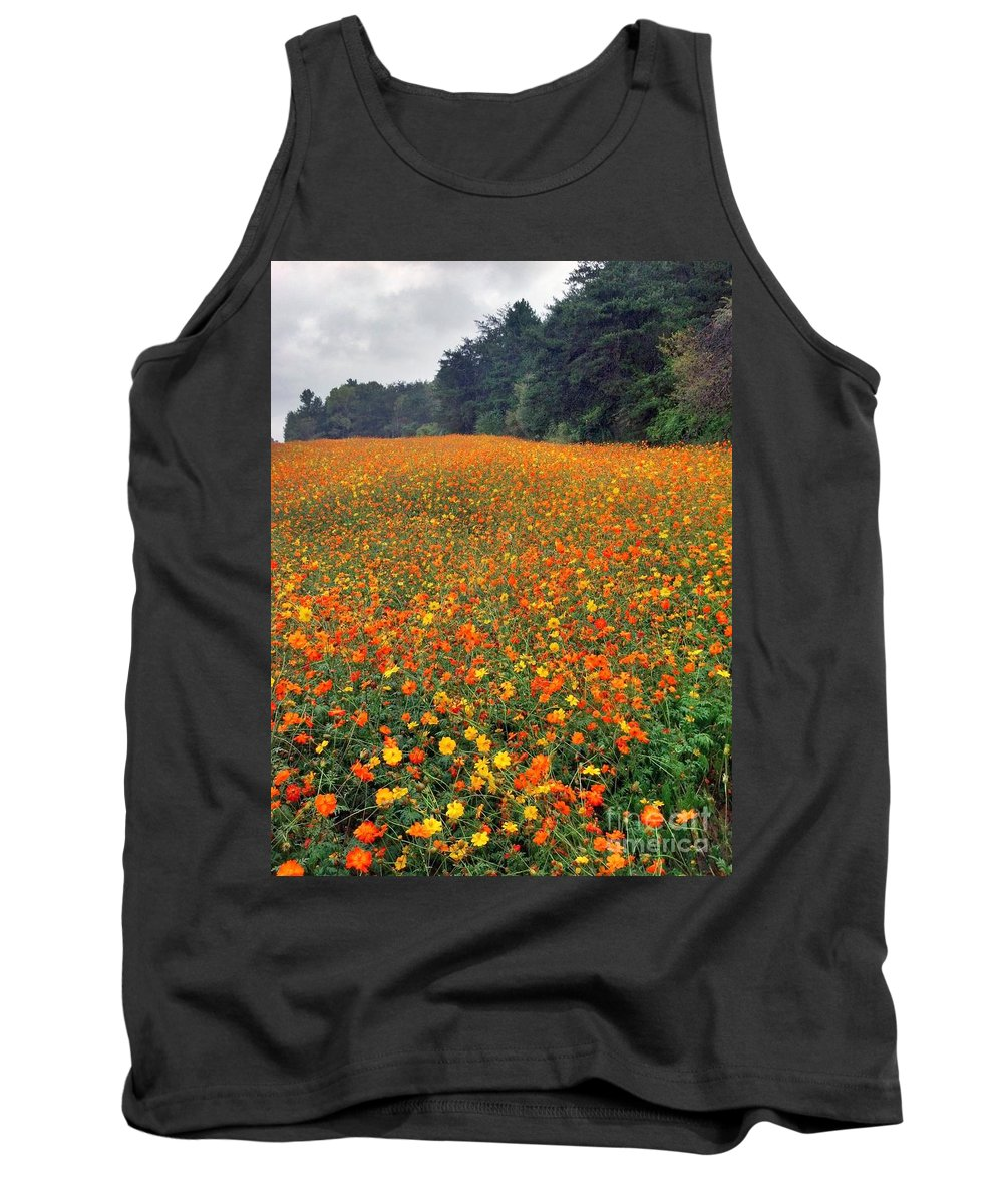 Tank Top featuring the photograph Fall Flowers by Janice Spivey