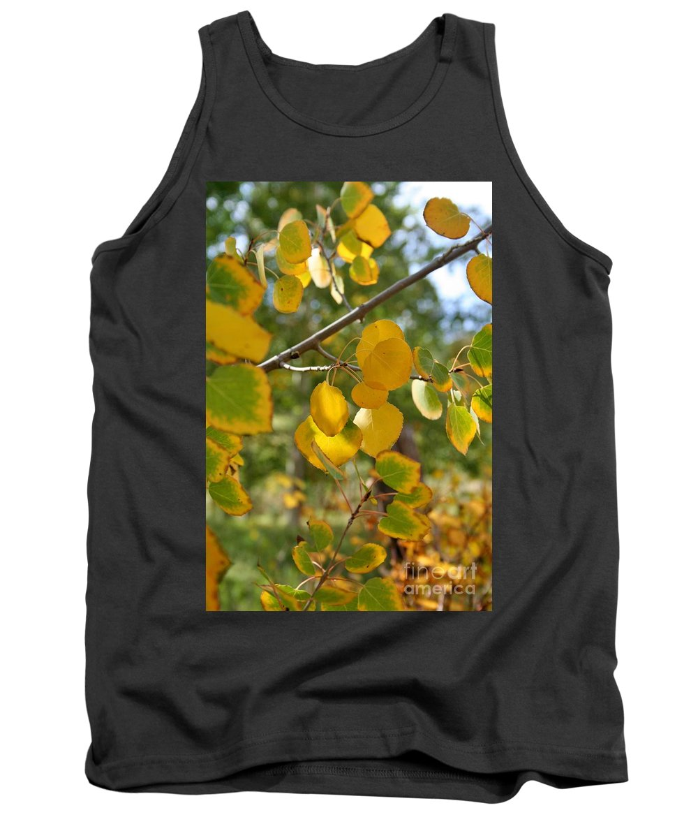 Leaves Tank Top featuring the photograph Fall Foliage by Ellen Heaverlo