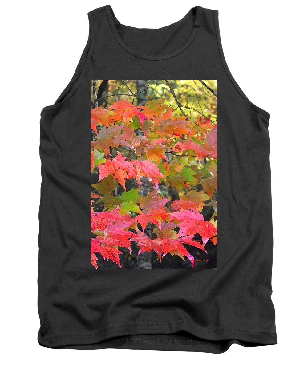 Fall Tank Top featuring the photograph Fall Leaves Filtered by Duane McCullough